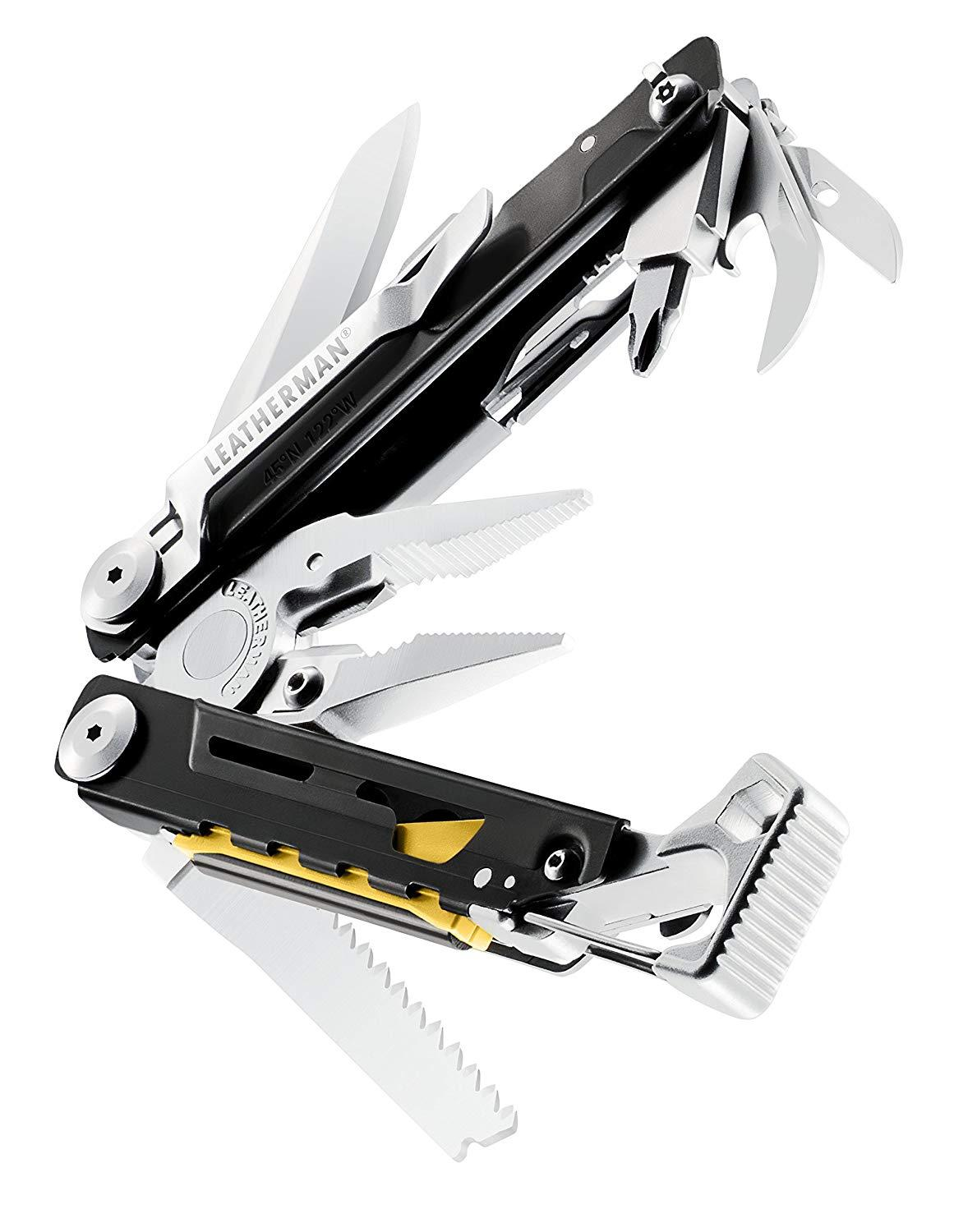 Tools : LEATHERMAN - SIGNAL Camping Multitool with Hammer and Emergency Whistle - 8 Colors