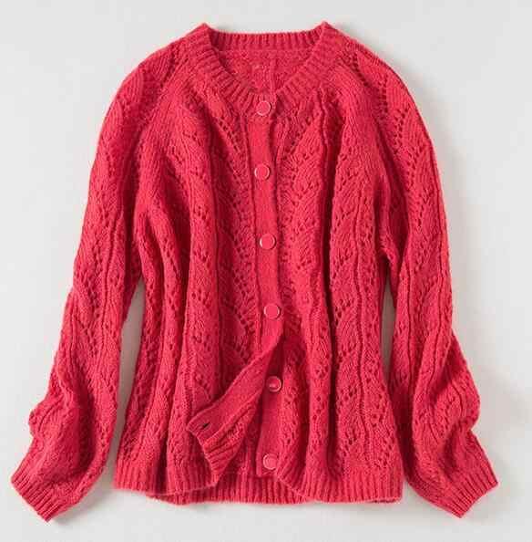 ผู้หญิง Cardigans เสื้อกันหนาว V คอนุ่มหลวมเดียว Breasted Casual ถัก Cardigan Outwear ฤดูหนาวแจ็คเก็ต Coat