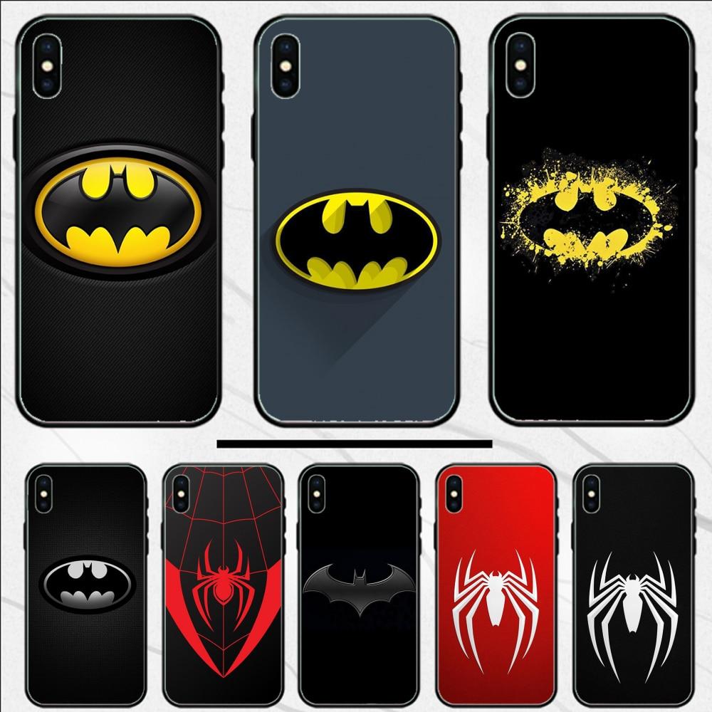 Marvel Avenger Batman Spiderman Case Coque Shell Phone Case For iphone 4 4S 5 5S SE