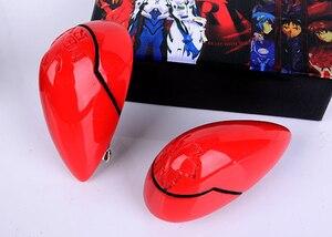 Image 5 - Anime EVA Asuka Langley Soryu Lange Orange Mit 2 Pferdeschwanz Clips Hitze Beständig Haar Cosplay Kostüm Perücke + Headwear Haripin