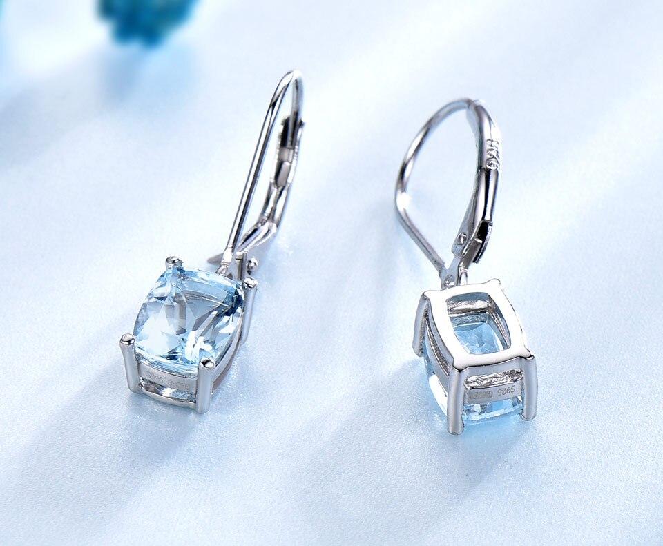 UMCHO Sky blue topaz silver sterling jewelry sets for women S011B-1-PC (6)