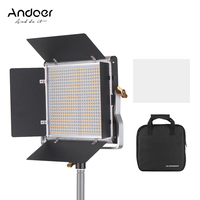 Professional Andoer LED Video Light 660 Bulbs Light Panel 3200 5600K w/ U Bracket Barndoor Kit for Studio Video Shooting Makeup