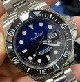 Reloj pesado de zafiro con bisel de cerámica verde azul negro mecánico automático de acero inoxidable para hombre nuevo de lujo limitado 43mm AAA +