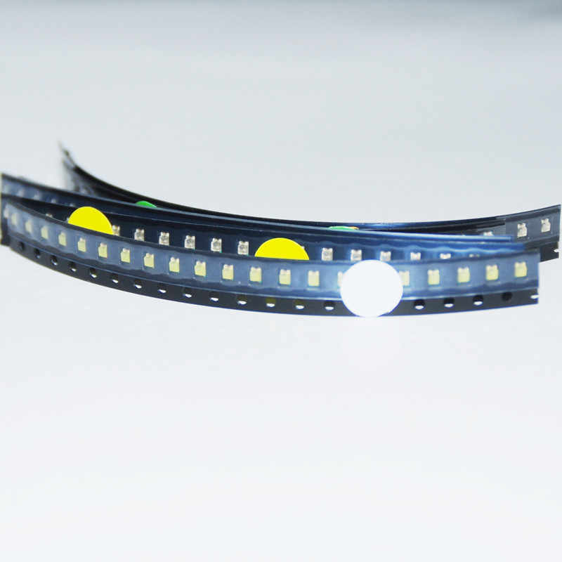 SMD BLINK-LED 0805 PUR WEISS mit IC Cu-Draht 35cm XL FLASHING IC pure white