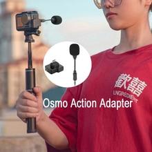 Adaptateur DJI CYNOVA Osmo Action 3.5mm USB C avec micro améliore la qualité du son pour DJI Osmo Action tout en chargeant la Transmission de données