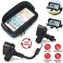 6,3 дюймовый велосипедный держатель для телефона, сумка, чехол, водонепроницаемый Кронштейн для горного велосипеда, мотоцикла, поддержка GPS, ...