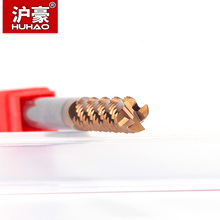 HUHAO Import HRC55 Milling Cutter 4 Flutes Coarse End Mill CNC Tool Extended Coated Wave Edge Router Bit For Steel Metal Wood