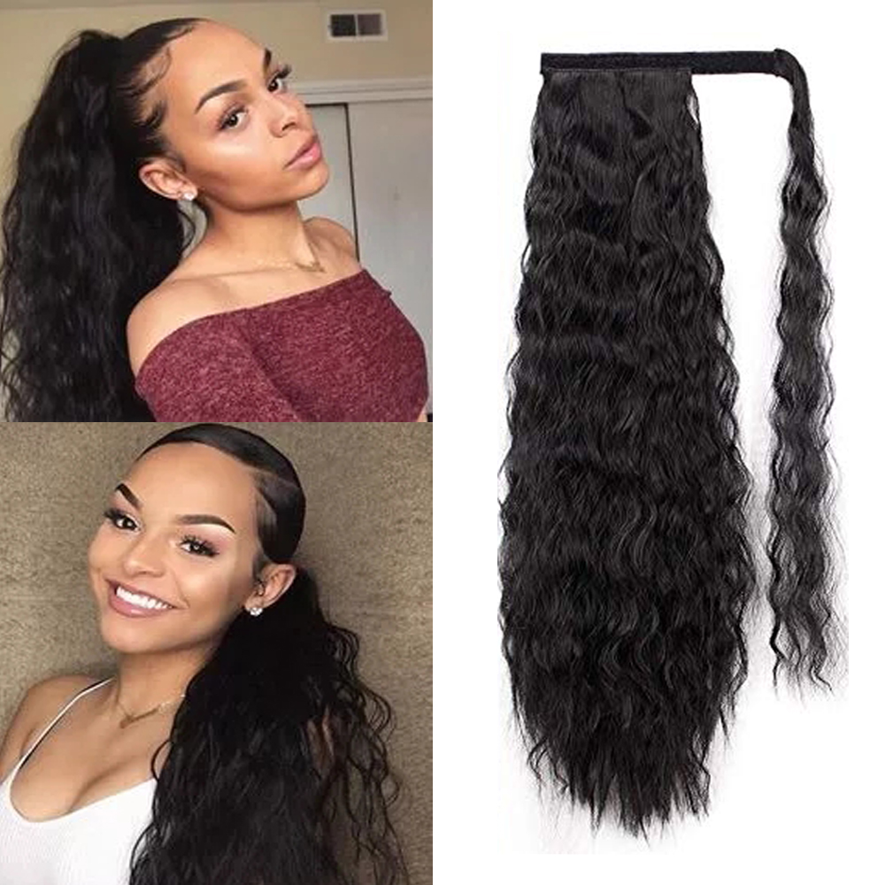 Kinky Curly Ponytail Extensions Synthetic Hair Extensions del cabello Ponytail hair extensions hair pieces
