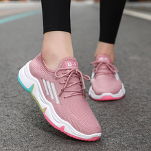 Flying Woven Sports Shoes Female 2020 Summer New Wild Running Breathable Mesh Thin Section Small White Travel Net