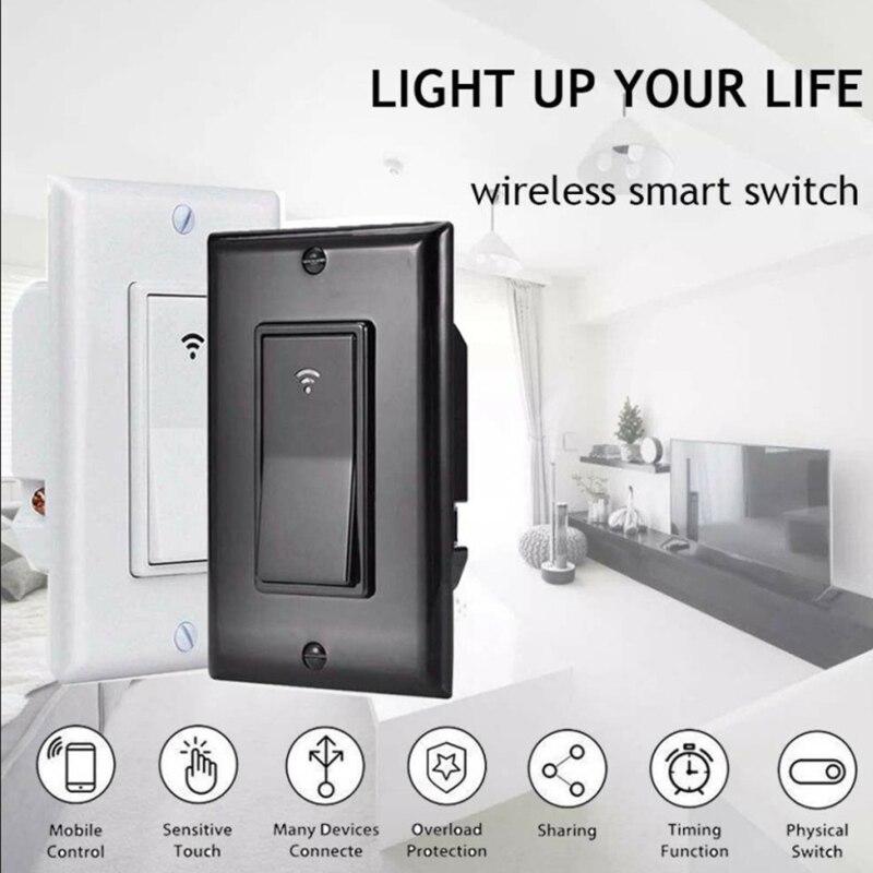 Commutateur intelligent WiFi lumière murale télécommande Alexa commande vocale pratique US 118 commutateur intelligent