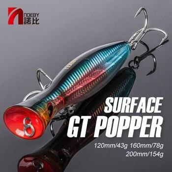 NOEBY Fishing Lure Popper sea tuna lure 120mm/160mm Topwater Hard Bait Iscas Artificiais Leurre De Peche Wobbler fishing tackle