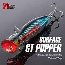 NOEBY Leurre rigide Popper pour la pêche en surface, Wobbler, appât artificiel idéal pour le thon, 120/160mm