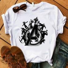 2019 New T Shirt Women Marvel Movie Avengers Endgame Vogue Print T-shirts Short Sleeve Harajuku Styl