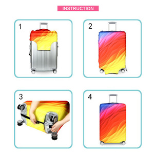 Image 5 - אלסטי נסיעות מזוודות כיסוי Dustproof מגן נסיעות מזוודה כיסוי עבור 18 32 אינץ עגלת תיק מקרה אביזרי מטען