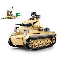 sluban 0691 356pcs military world war 2 ww2 panzer tank building blocks Bricks Toys For Children