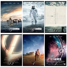 Interstellar Classic Movie Home Decorative Painting White Kraft Paper Poster cafe room 42X30cm