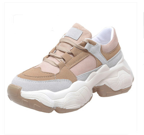 Women's Vulcanize Shoes 2019 Spring Autumn Women Sneaker Leisure Thick Soled Shoes Lady  White Shoes  Flats Zapatos De Mujer