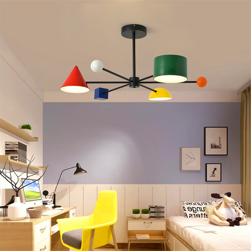 Artpad New Arrival Colorful Children Room Ceiling Pendant Led Light Nordic Creative Toy Brick Macaron Dimming Pendant Light 30W