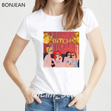 new arrival 2019 make fun of snow White princess print t-shirt camiseta mujer vogue funny t shirts femme harajuku ulzzang shirt