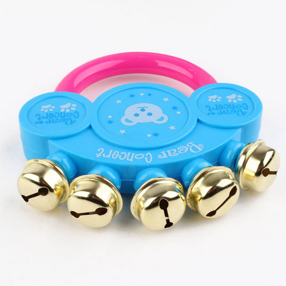 Educational Music Instrument Learning Education Toys Rattle Design Handbell Musical Instrument Jingle Rattle Bath Toy T726