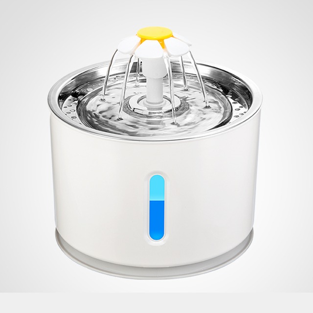 Pet Dog Cat Water Fountain Electric Automatic Water Feeder Dispenser Container LED Water Level Display For Dogs Cats Drink 1