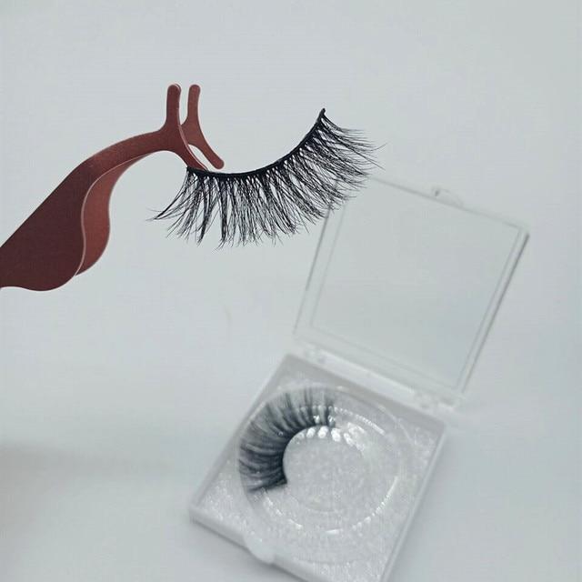Natural silk eyelashes fake lashes long makeup 25mm eyelash for beauty 6