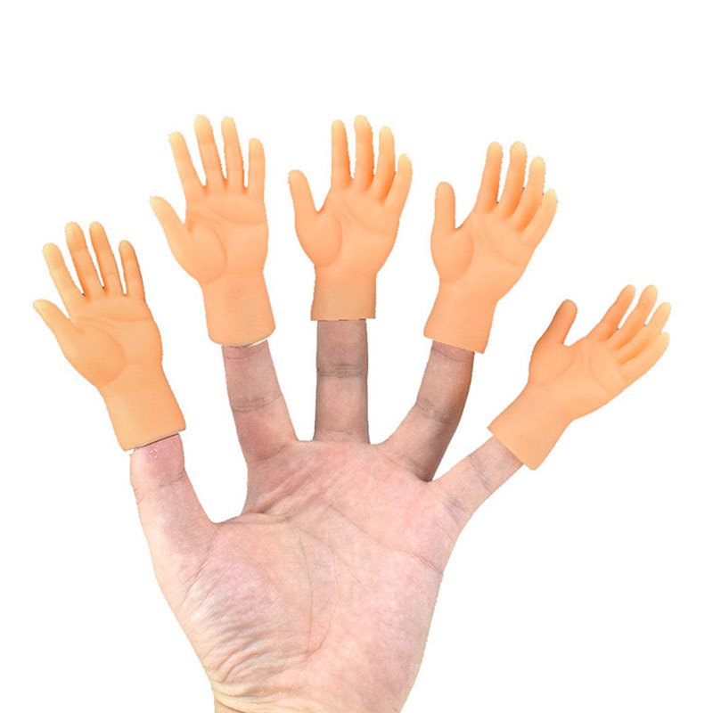 2 Pcs/set Screepy Halloween Mini Finger Hands Tiny Left Right Hand For Game Party Costume 2019 New