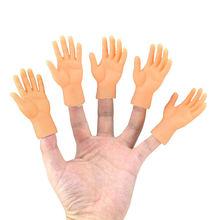 2 pçs/set Screepy Halloween Mini Dedo Mãos Minúsculo Esquerda Mão Direita para o Jogo Traje Do Partido
