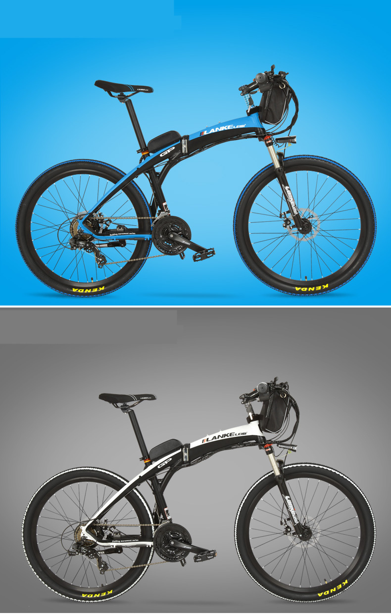 Lankeleisi 189.47 electric bicycle, folding bicycle, 26 inches, 36/48 V, 240 W, disk brake, fast folding, mountain 16