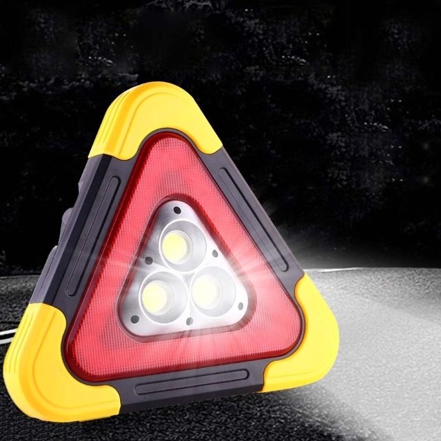 Multi Function Triangle Warning Sign Car LED Work light Road Safety Emergency 6XDB