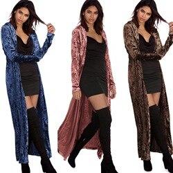 Отдельная станция желаний новые продукты Горячая продажа длинный рукав удлиненный бархатный Тренч пальто кардиган пальто 2092