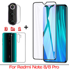 Front + Back Tempered Glass for Xiaomi Redmi Note 8 Pro Camera Film Screen Protector