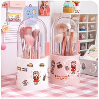 Kawaii storage box pen barrel makeup brush storage acrylic dresser desktop dust-proof storage supplies filled pearls