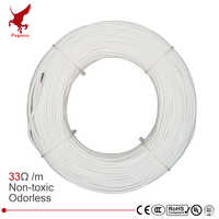 100m 12k 33ohm hrag fibra de carbono cabo de aquecimento 5 v-220 v piso aquecimento infravermelho de alta qualidade fio de aquecimento não-tóxico inodoro