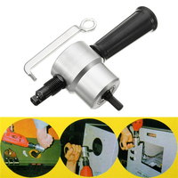 Knabber Blatt Metall Cut Doppel Kopf Blatt Metall Cutter Adapter Bohrer Befestigung Power Werkzeuge Mithelfer für Bohrmaschine|Elektrowerkzeuge Zubehör|Werkzeug -