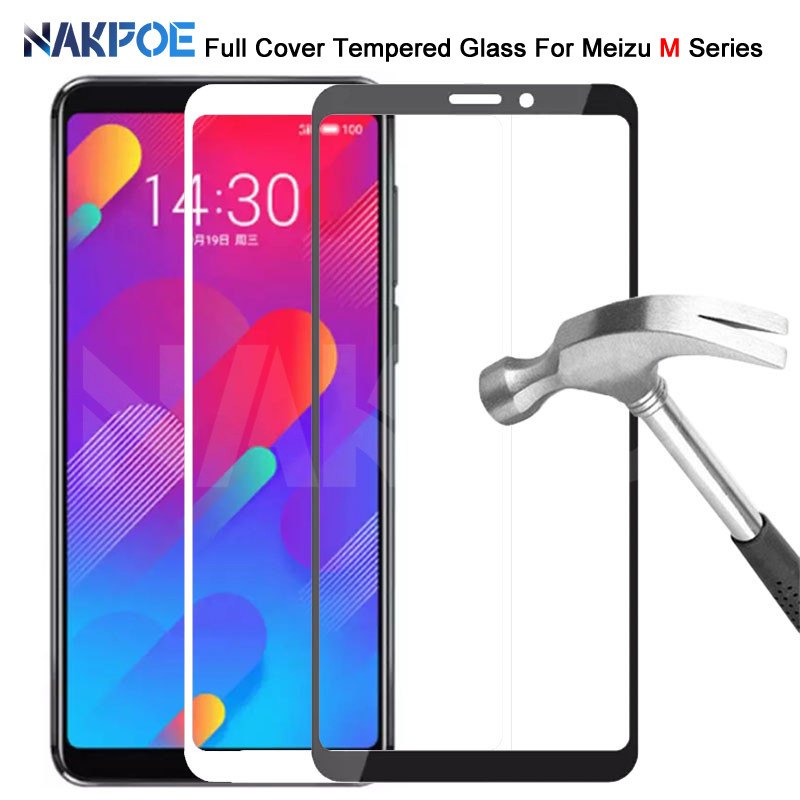 9D Protective Glass On The For Meizu M8 M6 M5 Note M6S M6T M5S M5C M8 Lite V8 Pro Tempered Screen Protector Glass Film Case