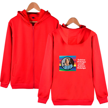 WAMNI Sabina Hidalgo Zip Hooded Sweatshirt Fashion Print Hip Hop Streetwear Zip Hooded Sweatshirt Loose Pullover Unique New image