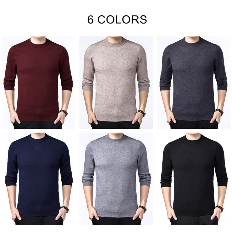 Image 4 - COODRONY Brand Sweater Men Autumn Winter Thick Warm Pull Homme  Classic Casual O Neck Pullover Men Cashmere Woolen Knitwear  91109Pullovers