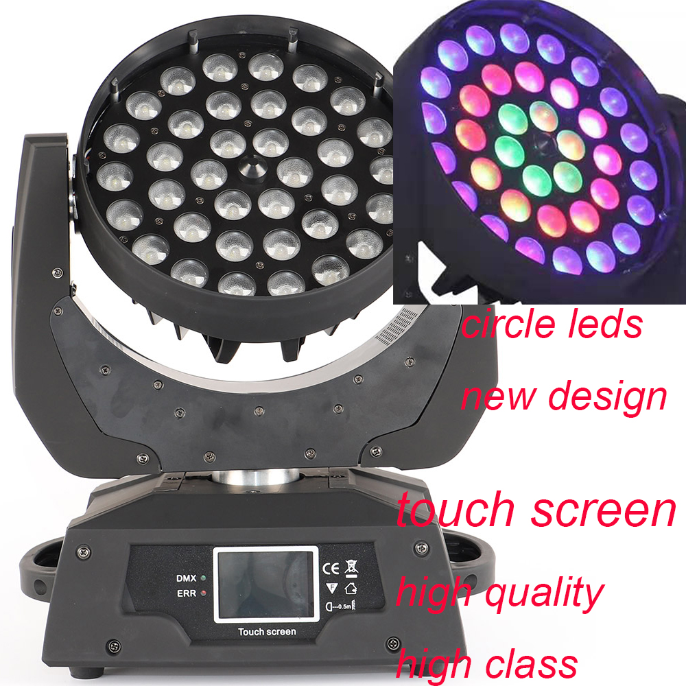 high quality stage led zoom wash 36x12w rgbw 4in1 wash zoom moving head light flight case