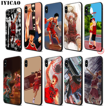 IYICAO Slamdunk anime Soft Black Silicone Case for iPhone 11 Pro Xr Xs Max X or 10 8 7 6 6S Plus 5 5S SE iyicao sailor moon anime soft black silicone case for iphone 11 pro xr xs max x or 10 8 7 6 6s plus 5 5s se