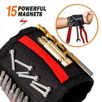 Magnetic Wristband,with Strong Magnets for Holding Screws, Nails, Drilling Bits, Best Christmas Day Tool belt for Men (Gift)
