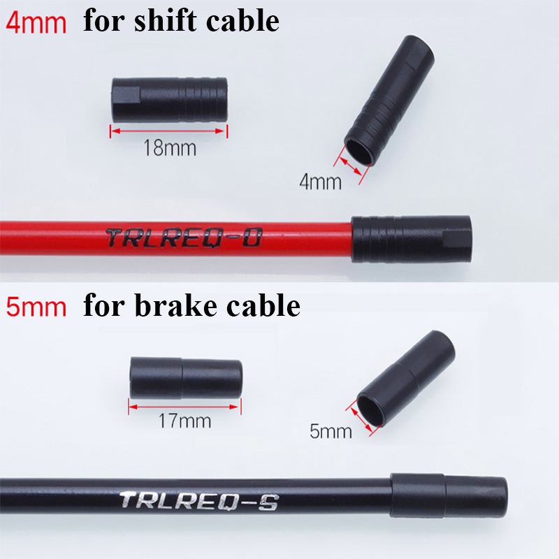 20 pcs Road Mountain Bike Bicycle Brake Derailleur Shifting Line Pipe CableCapE/&