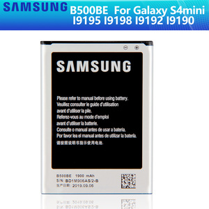 SAMSUNG Original Battery B500BE B500AE For Samsung GALAXY S4 Mini I9190 I9192 I9195 I9198 S4Mini Battery 3 pins 1900mAh