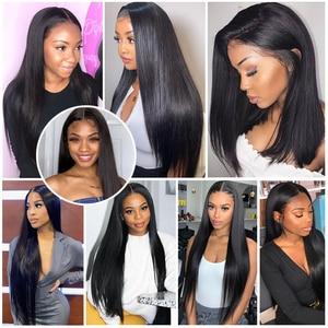 Image 2 - Luxediva naturalne włosy brazylijskie wiązki splecionych prostych włosów z zamknięcie koronki 4x4in Remy ludzkich włosów hurtowych luzem wiele cheveux