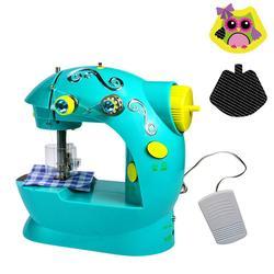متعددة الوظائف المنزلية الصغيرة الصغيرة المحمولة مصغرة لعبة أطفال ماكينة خياطة بدون مجلس هدية الكريسماس للطفل