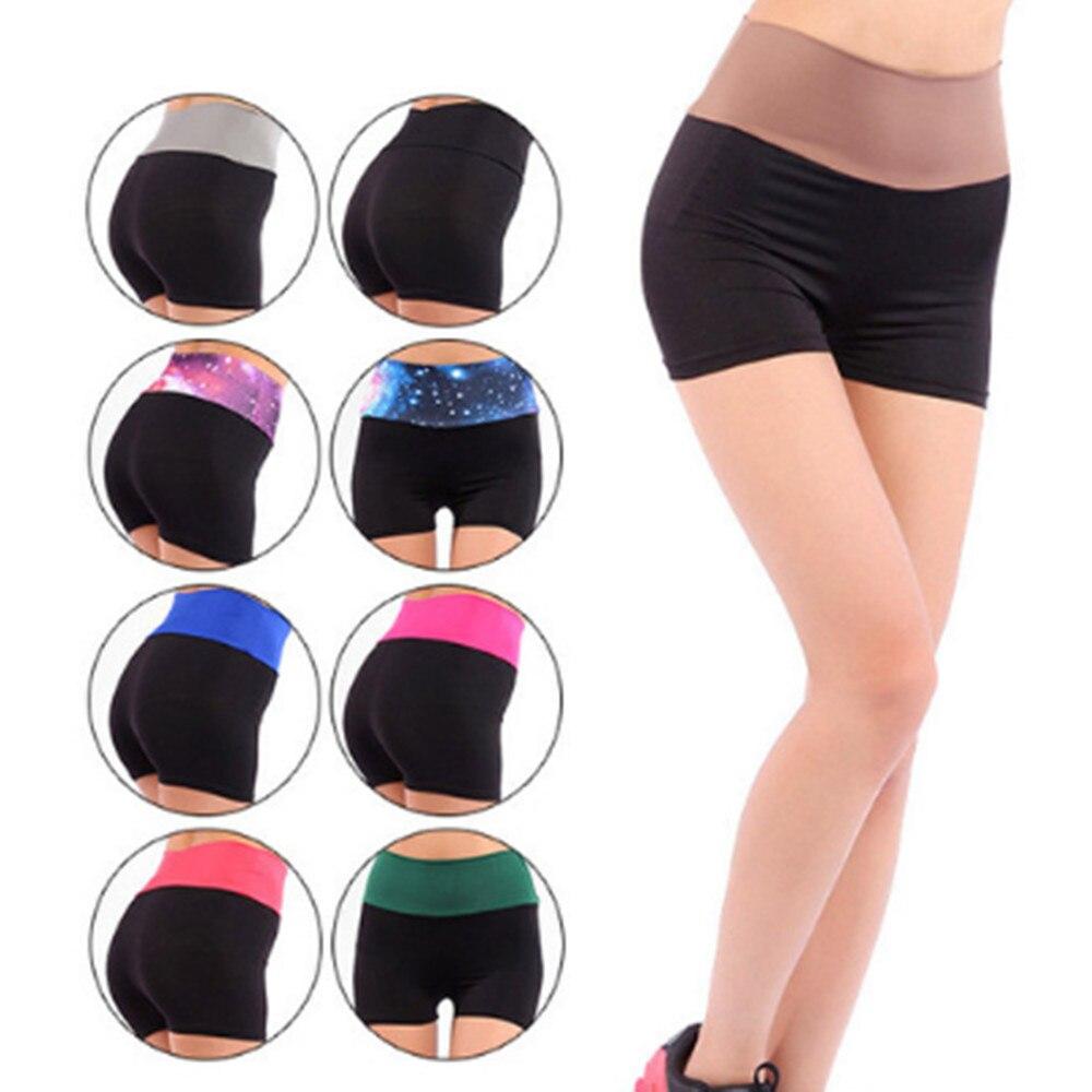 Women High waist stretch shorts Running fitness feminine sports shorts YF007