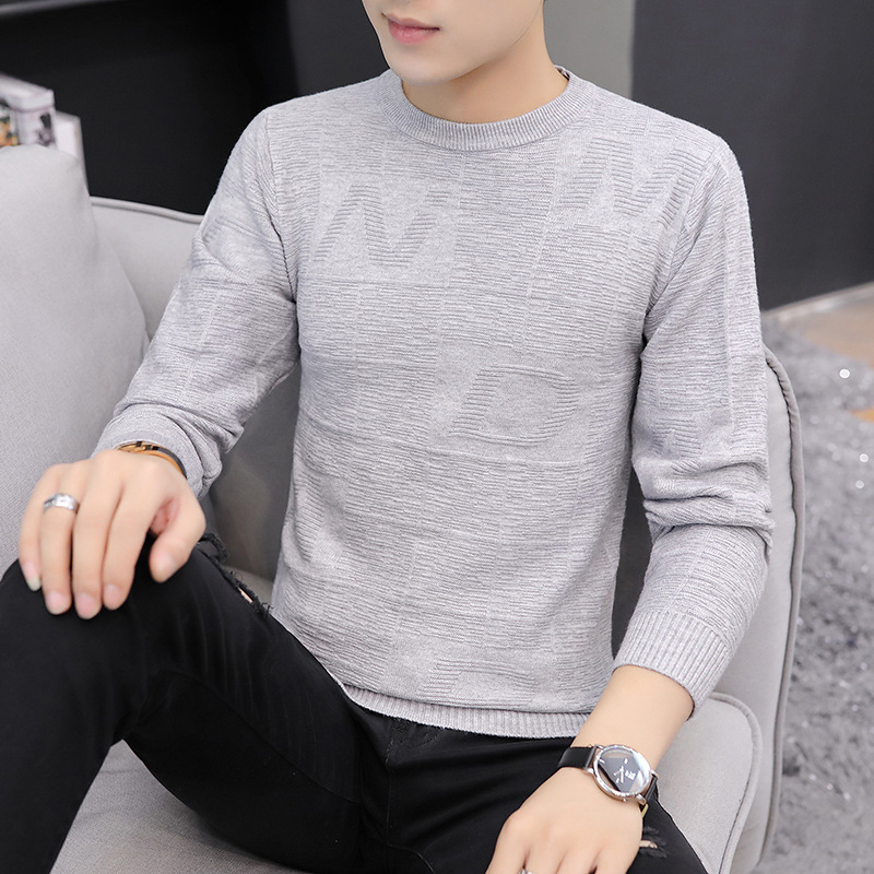 Pullover Men Sweaters White Long Sleeve Pink Casual Black Winter Grey Mens Sweaters Thin Wool O-Neck Men Sweater