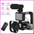 Видеокамера 4K, видеокамера для YouTube, видеокамера 56MP 16X, цифровой зум, ИК Ночное Видение, функция Wi-Fi, сенсорный экран 3,0 дюйма для веб-камеры