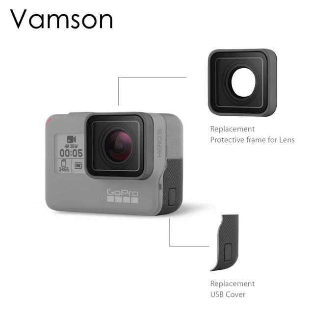 Vamson für Go pro Zubehör für Gopro Hero 7 Schwarz 6 5 UV Objektiv Ring Ersatz Schutzhülle Reparatur Fall Rahmen VP717