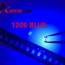 SMD LED Diodes Super-Bright 1206 460-470NM 100PCS Light-Emitting